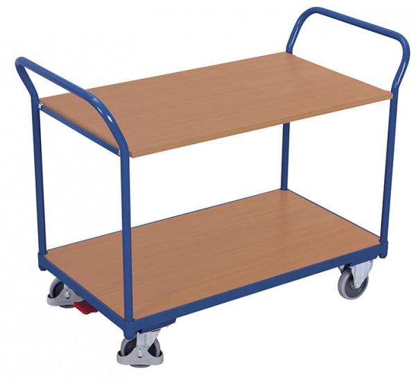 Variofit Tischwagen mit zwei Ladeflächen, Baukasten-System, EasySTOP