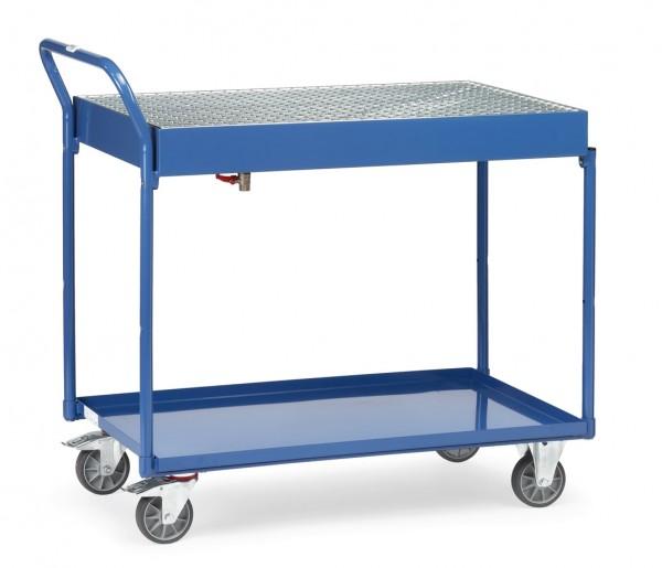 Fetra 2722 Tischwagen mit Stahlblechwannen, Gitterrost und Ablasshahn 300 kg