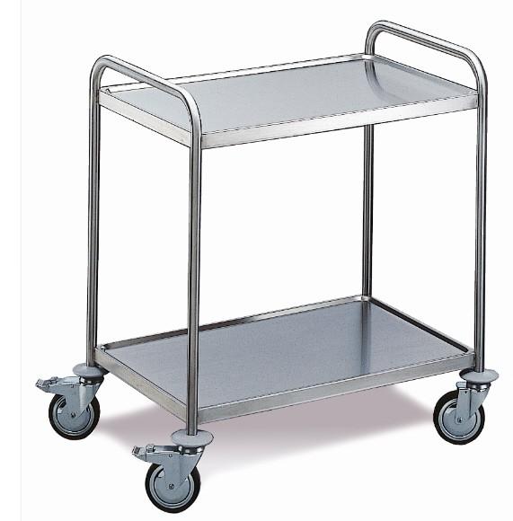 ROLLCART Tischwagen, zwei Etagen, 80 kg Tragkraft