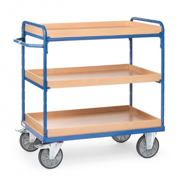 Fetra Etagenwagen mit drei Kästen aus Holz, bis 600 kg
