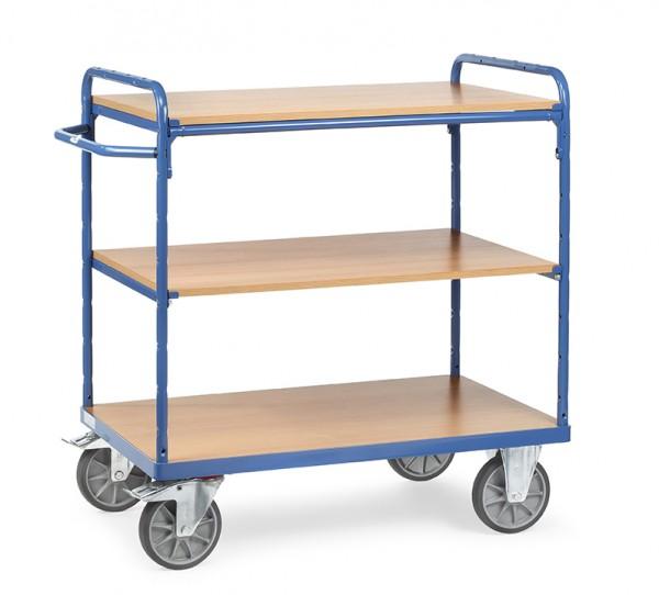Fetra Etagenwagen mit drei Böden aus Holz, bis 600 kg