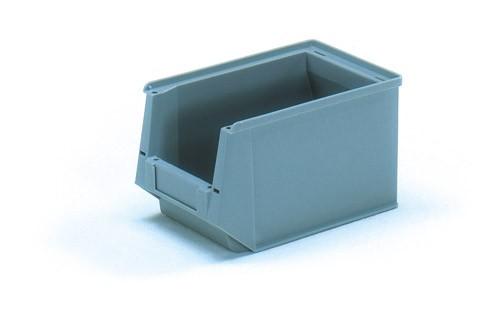 Fetra 1782 Sichtlagerkasten aus Kunststoff, Farbe grau