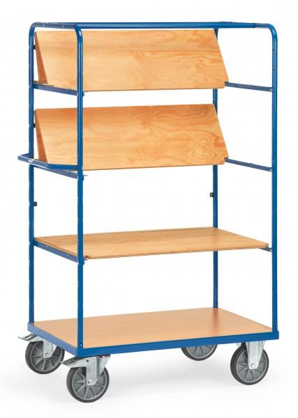 Fetra Hoher Etagenwagen mit faltbaren Einlegeböden aus Holz, 600 kg