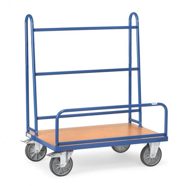Fetra Plattenwagen mit festen Rohrbügeln, 600 kg