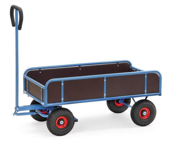 Fetra Handwagen mit vier Wänden, Feststellbremse, 400 kg