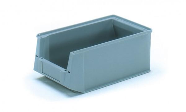 Fetra 1783 Sichtlagerkasten aus Kunststoff, Farbe grau
