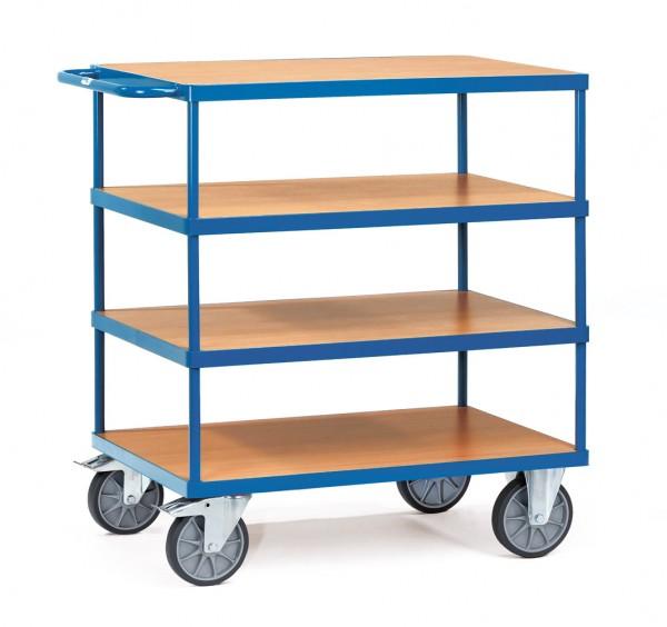 Fetra Schwerer Tischwagen, rechteckige Ladeflächen, 600 kg