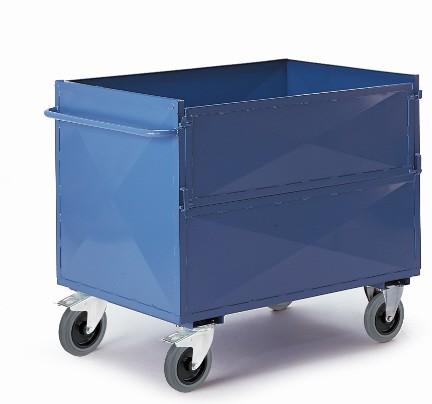 ROLLCART Blechkastenwagen, 600 kg Tragkraft