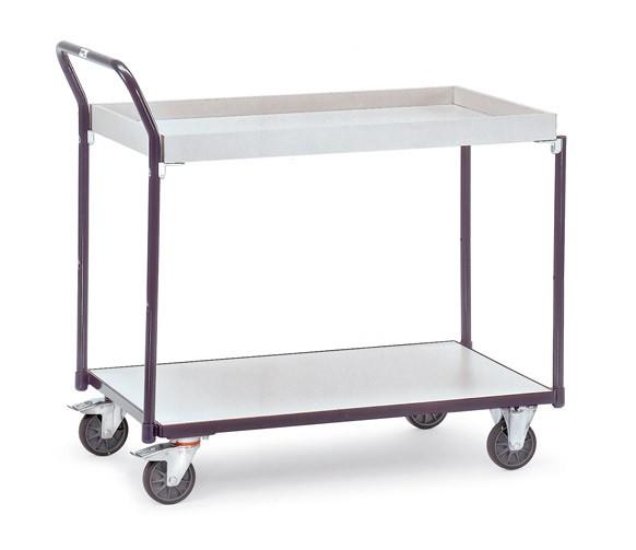 Fetra ESD-Tischwagen mit einem Boden und einem Kasten, 300 kg