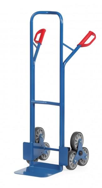 Fetra TK1325 Treppenkarren Stahl 200 kg, mit zwei dreiarmigen Rad-Sternen