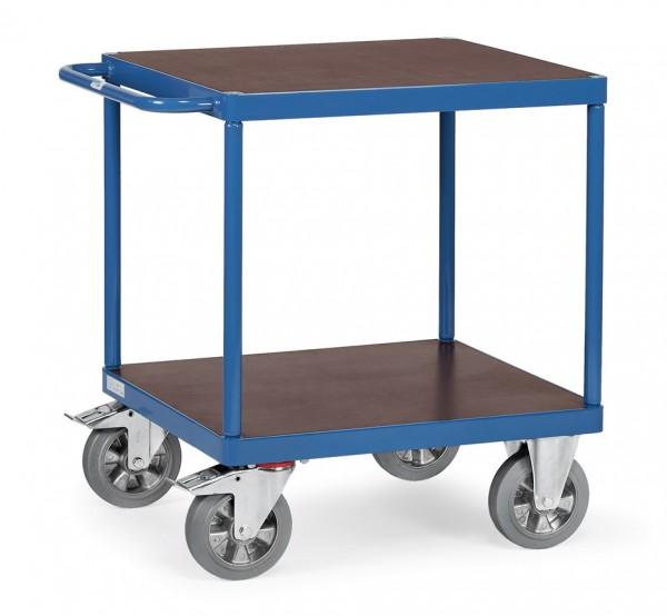 Fetra 12497 schwerer Tischwagen, quadratische Ladefläche