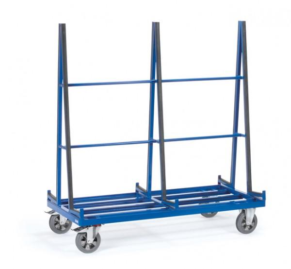Fetra Plattenwagen, zweiseitige Anlage mit Profilgummi, 1200 kg