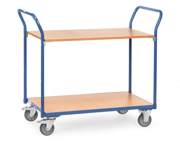 Fetra Tischwagen mit zwei Holzplattformen 200 kg