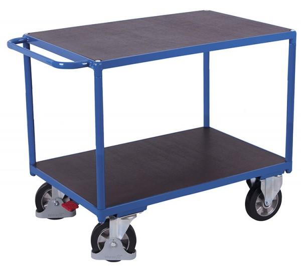 VARIOfit Schwerlast Tischwagen mit zwei Ladeflächen, Baukasten-System, EasySTOP