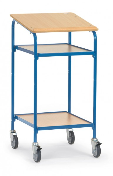 Fetra 5834 Rollpult mit Schreibfläche und zwei Holzablagen, 100 kg