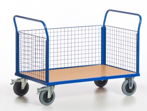 ROLLCART Gitter-Dreiwandwagen