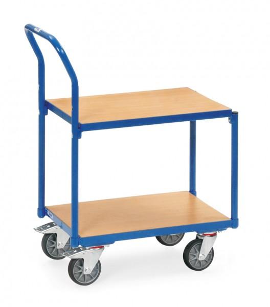 Fetra 135500 Etagen-Roller mit zwei Holzböden und Rohrschiebebügel