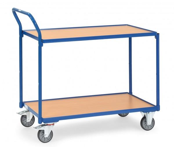 Fetra Leichter Tischwagen mit zwei Holz-Plattformen, 300 kg