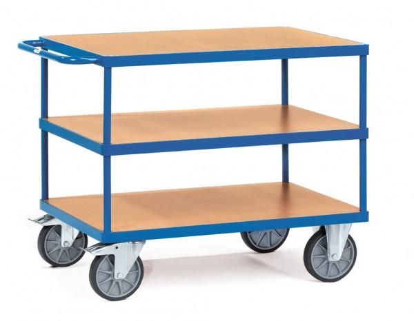 Fetra Schwerer Tischwagen, rechteckige Ladeflächen, bis 600 kg