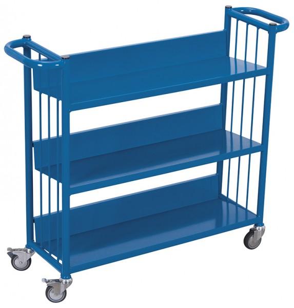 VARIOfit sw-300.000 Büchertransportwagen mit drei Etagen