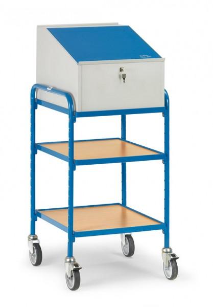 Fetra 5844 Rollpult mit Ablageböden und Schreibpult-Aufsatz, 150 kg