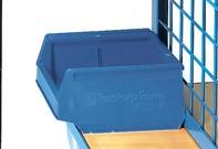 Fetra 1307 Sichtlagerkasten, Polypropylen, blau