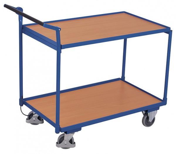 VARIOfit sw-600.548 Tischwagen mit zwei Ladeflächen und Totmannbremse