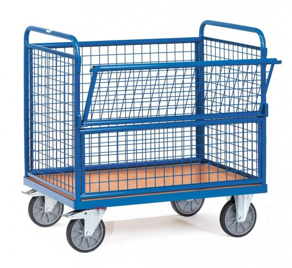 Fetra Drahtkastenwagen mit Wänden aus Drahtgitter, 600 kg