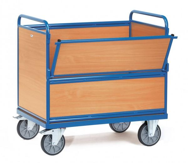 Fetra Holzkastenwagen mit Wänden und Boden aus Holz, 600 kg