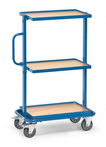Fetra 32901 Beistellwagen mit drei Böden aus Holz, 200 kg