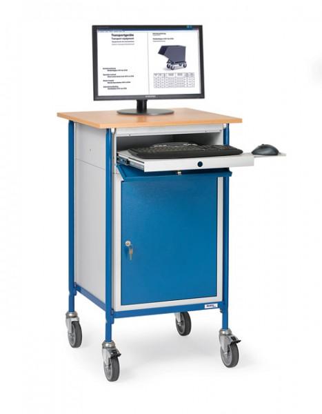 Fetra 5839 Rollpult mit waagerechter Schreibfläche und Stahlschrank, 150 kg