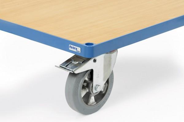Fetra Räder mit Elastic-Bereifung, blaugrau