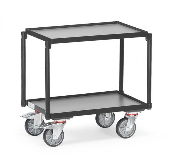 """Fetra 13540/7016 Etagen-Roller """"GREY EDITION"""" 250 kg, mit zwei Böden aus Holz, mit Rand 15 mm"""