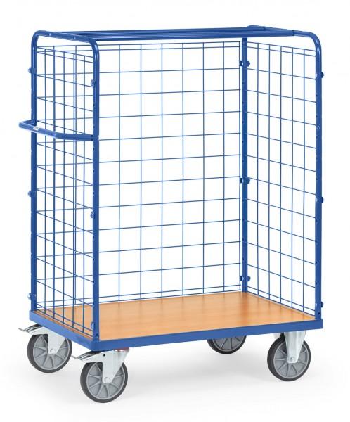 Fetra Paketwagen mit drei Drahtgitterwänden, 600 kg