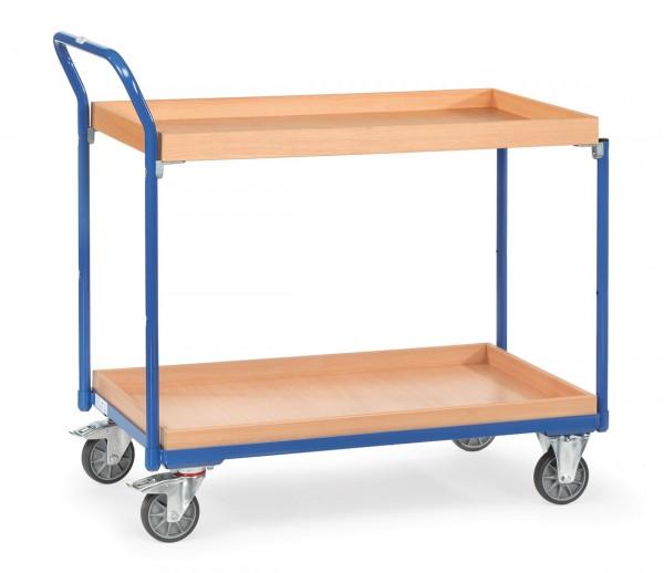 Fetra Leichter Tischwagen mit Holzkästen, 300 kg