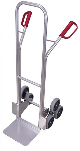 VARIOfit ap-710.208 Aluminium Treppenkarre mit zwei dreiarmigen Radsternen