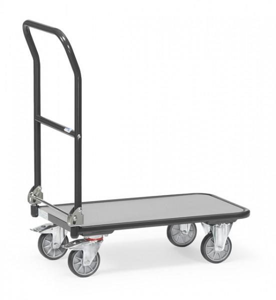 """Fetra Klappwagen """"GREY EDITION"""" 250 kg, Schiebebügel auf Plattform klappbar"""