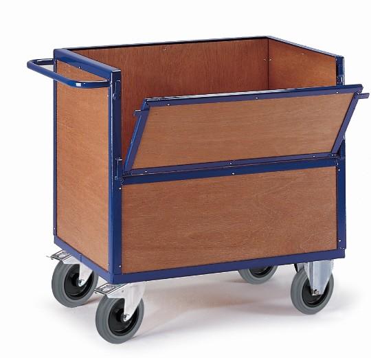 ROLLCART Holzkastenwagen, 600 kg Tragkraft