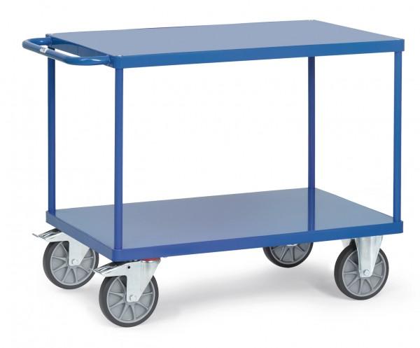 Fetra Schwerer Tischwagen, zwei rechteckige Stahlblech-Plattformen, bis 600 kg