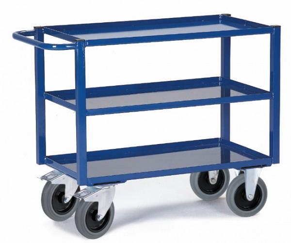 ROLLCART Tischwagen mit Blechwannen, 400 kg Tragkraft