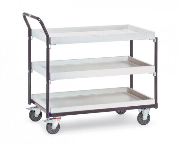 Fetra ESD-Tischwagen mit drei Kästen, 300 kg