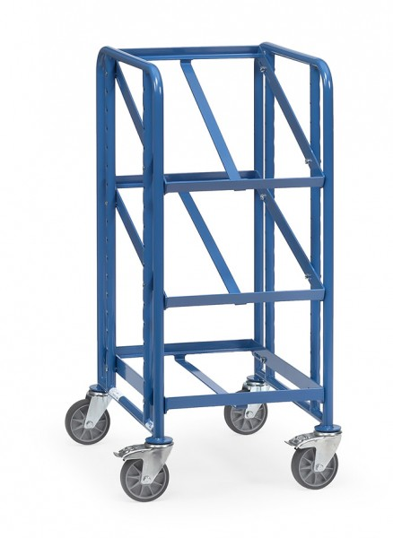 Fetra 2380 Eurokastenwagen mit drei offenen Etagenrahmen, 250 kg