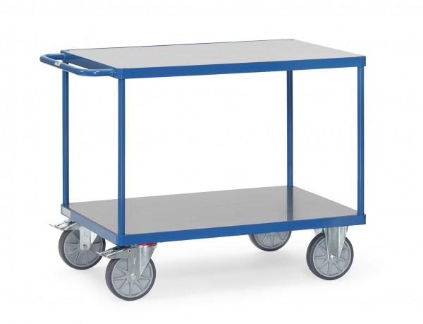 Fetra Schwerer Tischwagen mit zwei Böden mit Hart-PVC-Plattform