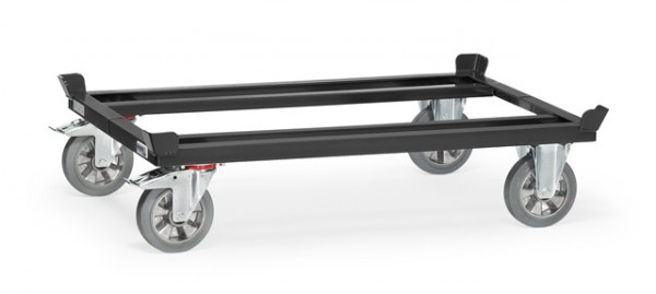 "Fetra 22811/7016 Paletten-Fahrgestell ""GREY EDITION"" 1200 kg, blaugraue Elastic-Vollgummi-Bereifung"