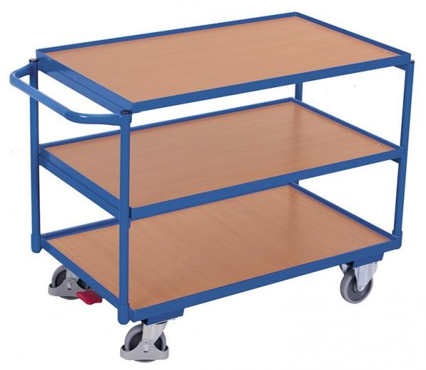 VARIOfit Tischwagen mit drei Ladeflächen, Baukasten-System, EasySTOP