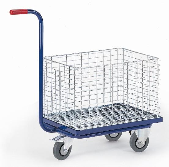 ROLLCART Dreiradgriffroller für Drahtkorb/Eurokasten