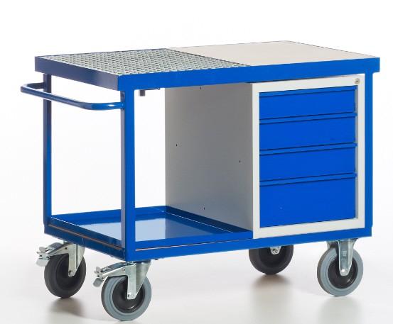 ROLLCART 07-4313 Umwelt-Werkstattwagen mit Schubladenschrank