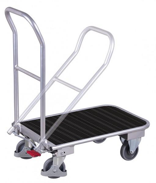 VARIOfit Aluminium-Klappbügelwagen mit Riefengummimattte, EasySTOP