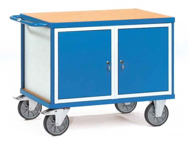 Fetra 2475 schwerer Werkstattwagen mit verschließbaren Schränken, 600 kg