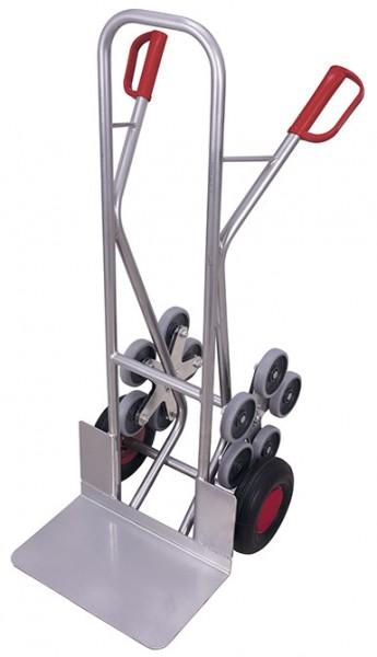 VARIOfit ap-710.209 Aluminium Treppenkarre mit zwei fünfarmigen Radsternen